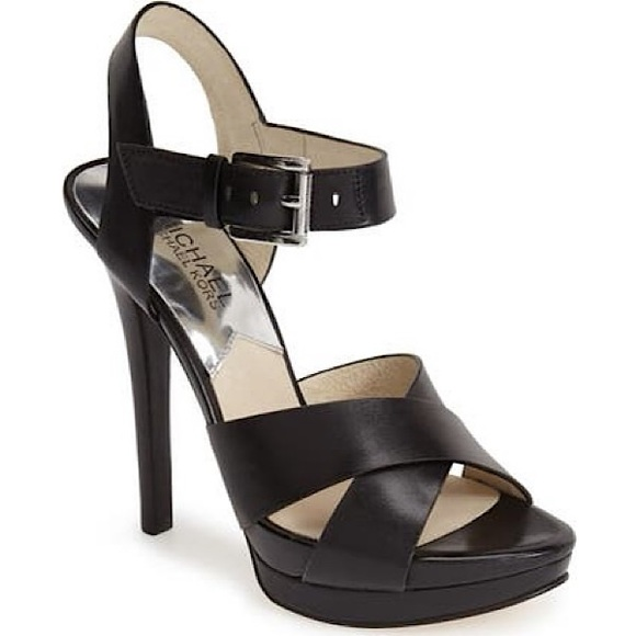 Michael Kors 'Oksana' Platform Leather Sandal